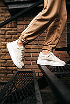 """Кросівки Alexander McQueen Leather Sneakers """"Білі/Білі"""", фото 3"""