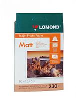 Фотобумага 10*15 см Lomond 230 г/кв.м 1 сторона матовая 50 листов