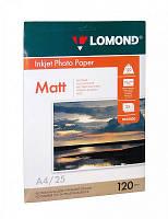 Фотобумага А4 Lomond 120 г/кв.м 1 сторона матовая 25 листов