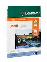 Фотобумага А4 Lomond 160 г/кв.м 1 сторона матовая 100 листов