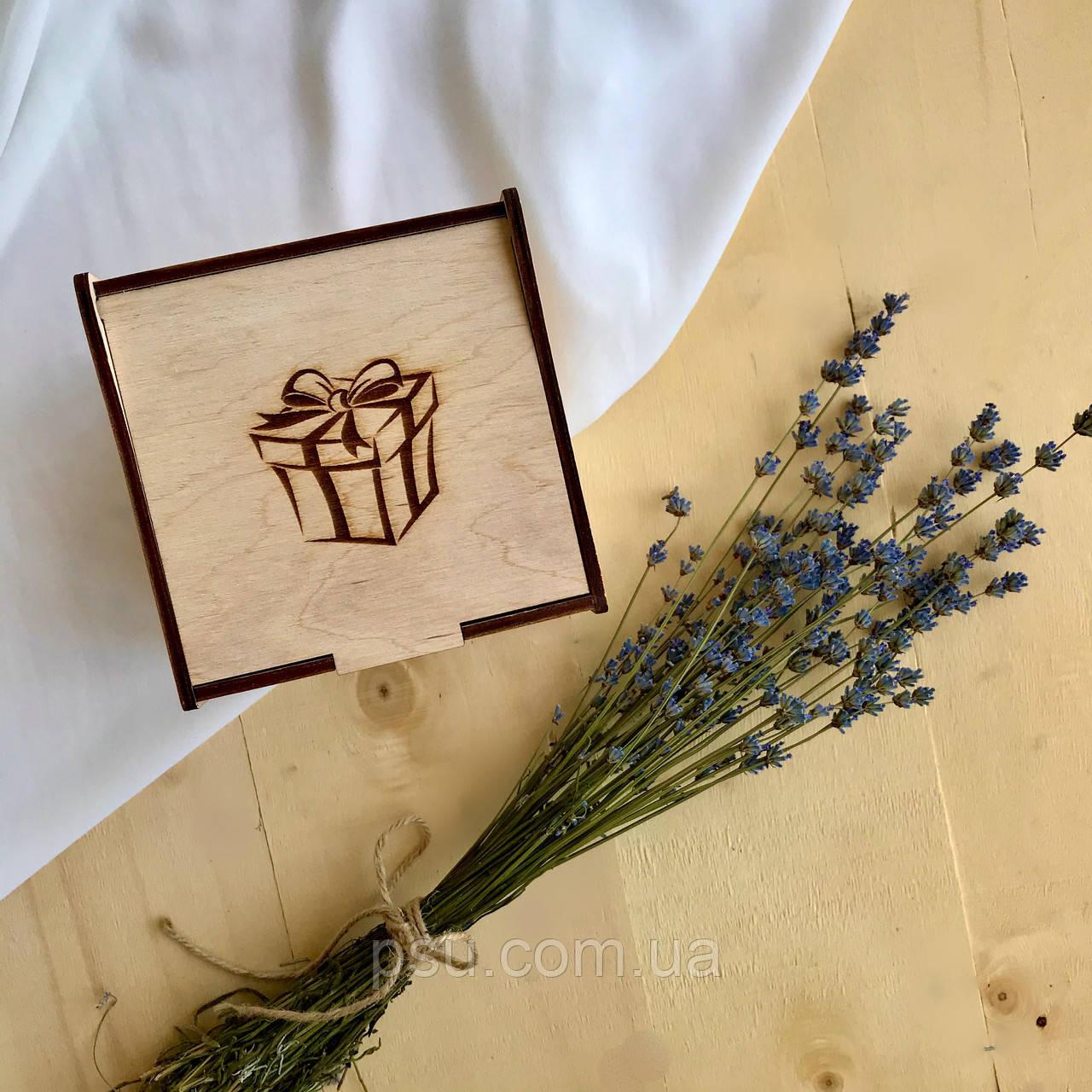 Коробочка для чашек деревянная (некрашеная)