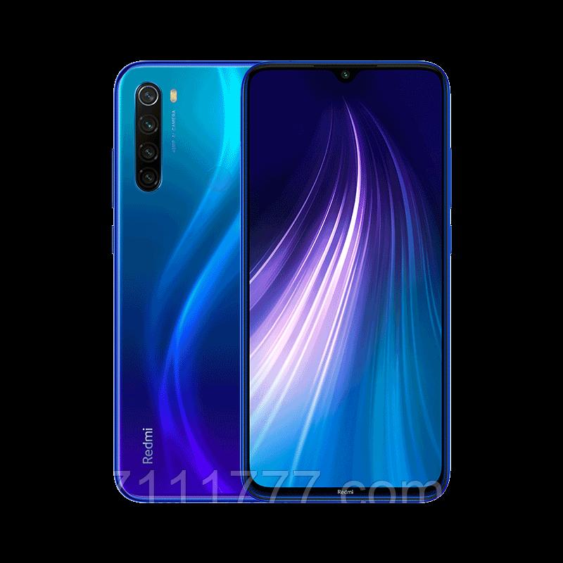 Смартфон синий с хорошим аккумулятором большой емкости Xiaomi Redmi NOTE 8 4/128Gb blue Global Version