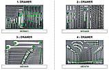Тележка с инструментом для автосервиса TOPTUL (Pro-Plus) 8 секций 448ед. серая GE-44803, фото 2
