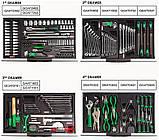 Тележка с инструментом передвижная TOPTUL 7 секций 211 ед. GCAJ0066, фото 2