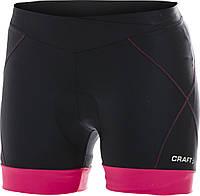 Велошорты Craft AB Hot Pants W - 9477 Black/Hibiscus 2014 (1900690) S