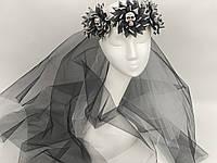 Венок Невеста с черепами и с фатой