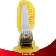 Мини вентилятор USB с прищепкой Mini Fan ML-F168 - вентилятор с аккумулятором на прищепке Желтый (R284), фото 3