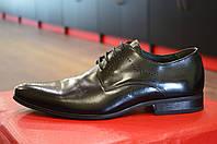Туфли мужские черные кожаные TJTJT ( модные, стильные, новинки весна, лето, осень)