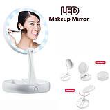 Складное зеркало для макияжа с Led подсветкой My Fold Away Mirror, фото 10