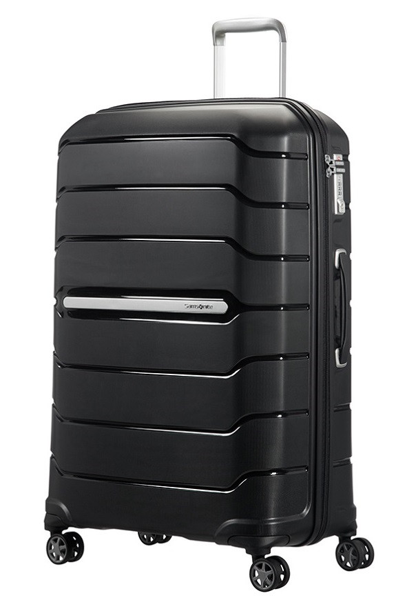 Большой пластиковый чемодан на 4-х колесах Samsonite Flux