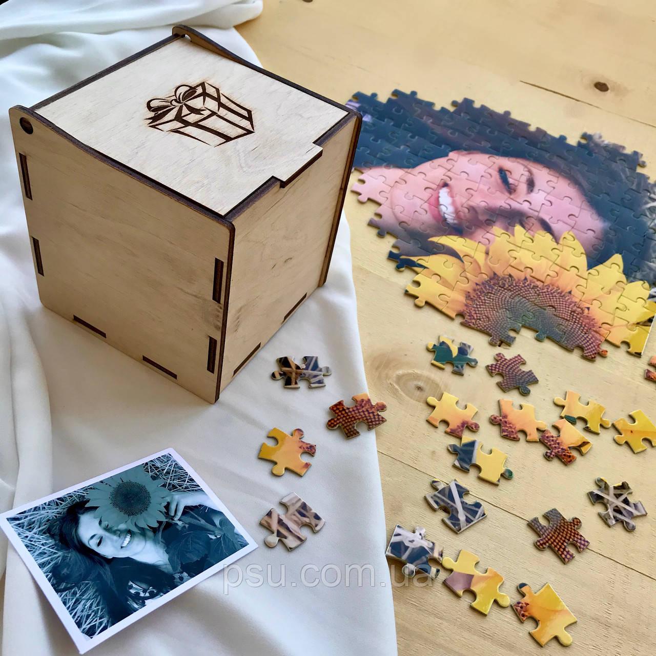 Коробочка для пазлов деревянная (некрашеная)