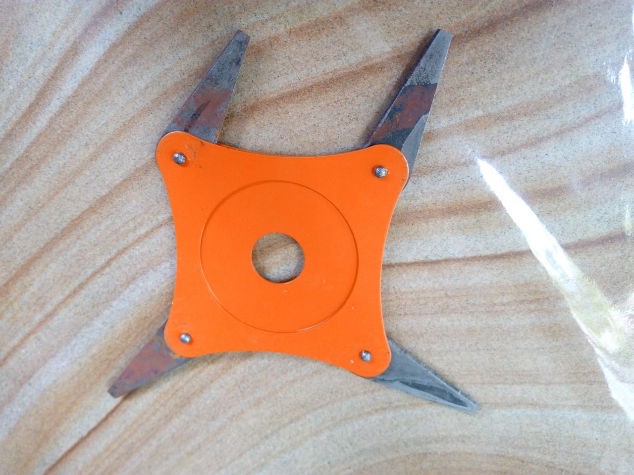 Нож сегментный 4-х лопастной каленный
