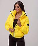 Куртка женская демисезонная с высоким воротником на молнии,4цвета Р-р. м(42), L(44), XL(46), 2XL Код 708Т, фото 2