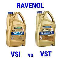 RAVENOL VSI 5W-40 vs RAVENOL VST 5W-40.