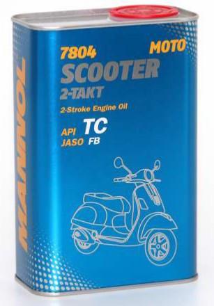 Масло для двухтактный двигателей Mannol Scooter 2-Takt TC 1л