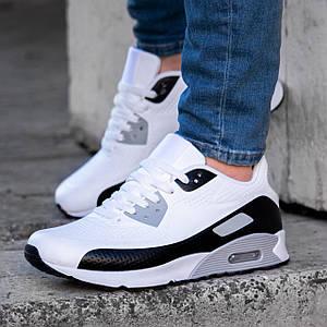 Кроссовки мужские в стиле Nike Air Max белые Размер 45