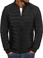 Куртка мужская демисезонная стеганая до -3*С | осенняя весенняя | теплая на синтепоне черная SALE