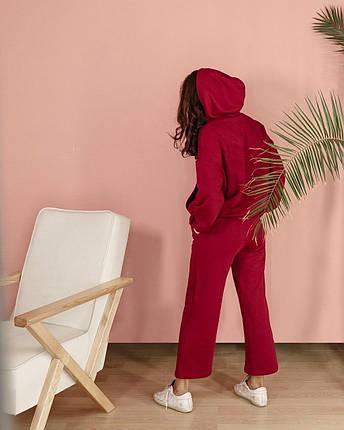 Костюм женский спортивный трикотажный с кюлотами AniTi 565, марсала, фото 2