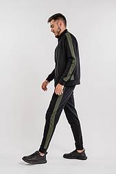 Мужской спортивный костюм с лампасами (Черный)