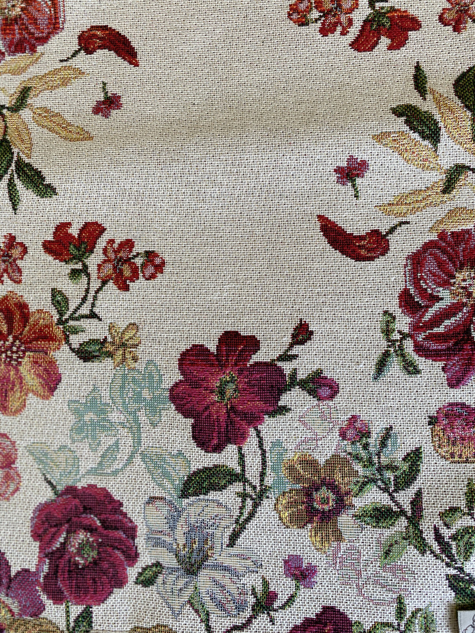 Гобеленовая наволочка декоративная Цветочное поле