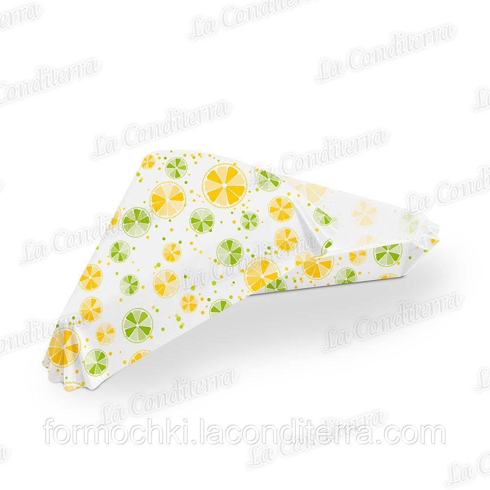 Формочки для викладки торта з візерунком «Цитрус» 40г/м2 ТР-102 (102х78 мм, борт – 25 мм), 1000 шт.