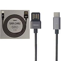 Кабель USB Type-C Remax RC-080a Silver Serpent черный