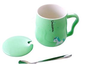 """Чашка с крышкой и ложкой """"Единорог"""" 400 мл, фото 2"""