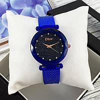 Наручний годинник Dior 002 Blue Diamonds Blue-Black, фото 1