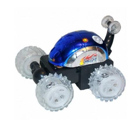 Радиоуправляемая машинка перевертыш Stunt 999G-1A Синяя (gr_008294)