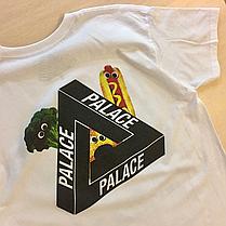 Palace Skateboards футболка белая Vegetables Broccoli Hot-dog, фото 2