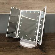 Зеркало для макияжа с LED подсветкой Superstar Magnifying Mirror 22 белое