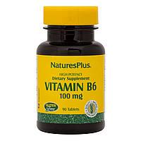 Витамин В-6 Медленного Высвобождения, Nature's Plus, 500 мг, 60 Таблеток