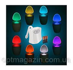 Підсвічування для унітазу Lightbowl з LED + датчик руху, фото 2