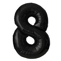 Фольгированная цифра 8 (40') Китай черная, 100 см