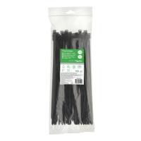 Кабельний хомут (стяжка) 300x7,6 (100 шт.) колір чорний IMT46270