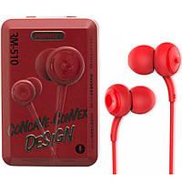 Наушники с микрофоном (гарнитура) Remax RM-510 красные, фото 1