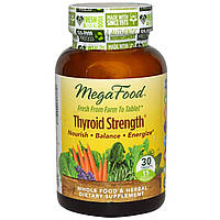 Сила щитовидной железы, Thyroid Strength, MegaFood, 30 таблеток
