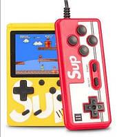 Игровая приставка SUP Game Box 400в1 Желтая - Приставка Dendy для двух игроков с джойстиком, подключением к ТВ, фото 1