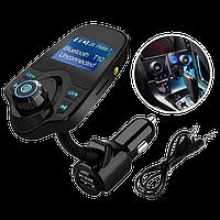Трансмитер FM MOD T10 + BT, MP3 модулятор, фм модулятор для авто, Трансмиттер с экраном, блютуз модулятор, фото 1