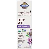 Органическая Травяная Смесь Для Сна, MyKind Organics, Sleep Well, Garden of Life, R&R спрей, 2 жидких унции (58 мл)