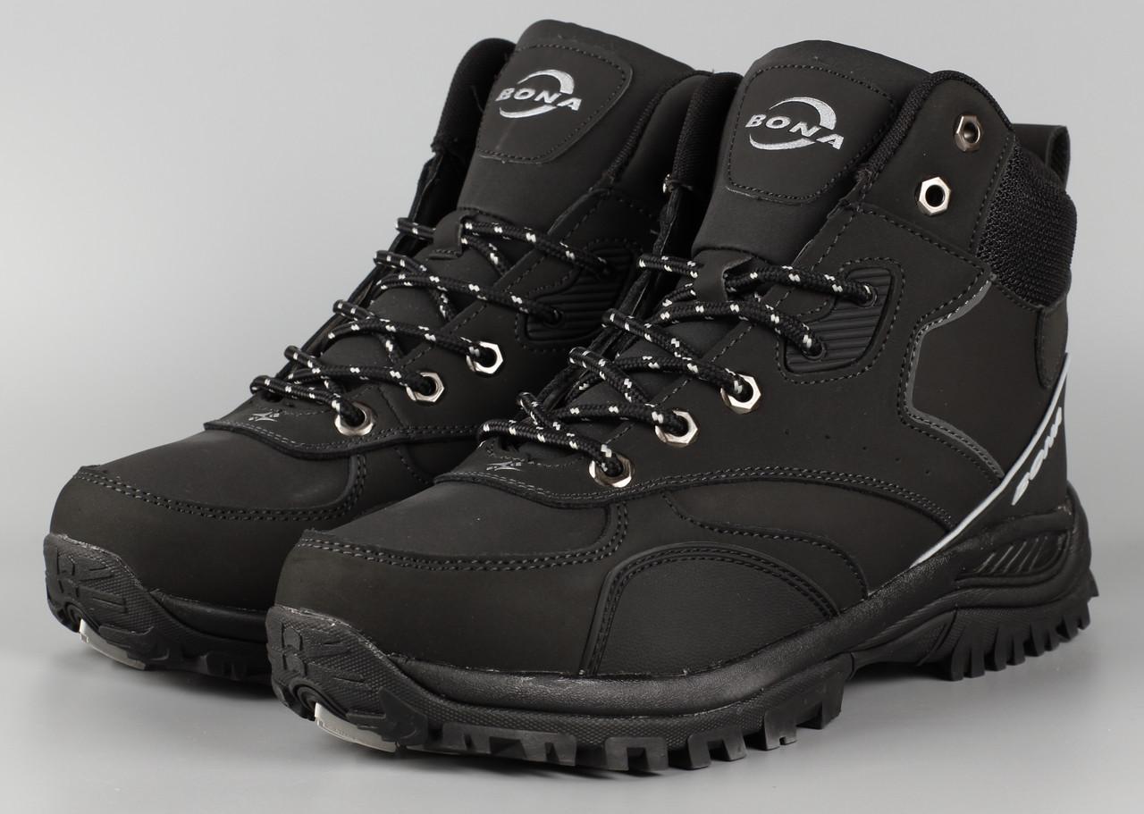 Черевики чоловічі чорні Bona 780D-6 Бона Розміри 42 43 44 46