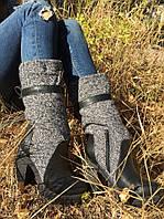 Сапоги женские зимние натуральная кожа и текстиль очень стильные