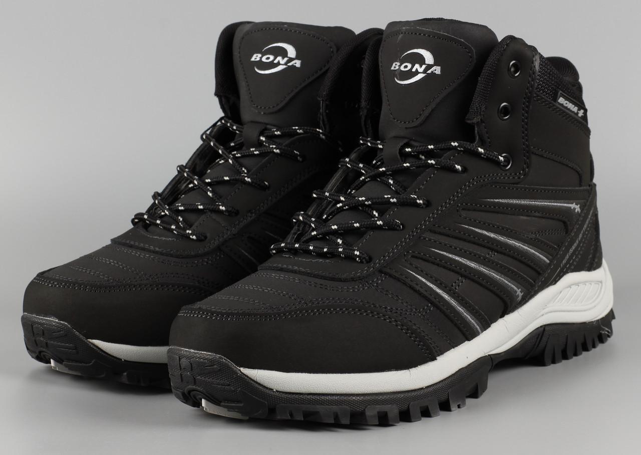 Ботинки мужские черные Bona 779D-6 Бона Размеры 41 42 43 44 45 46