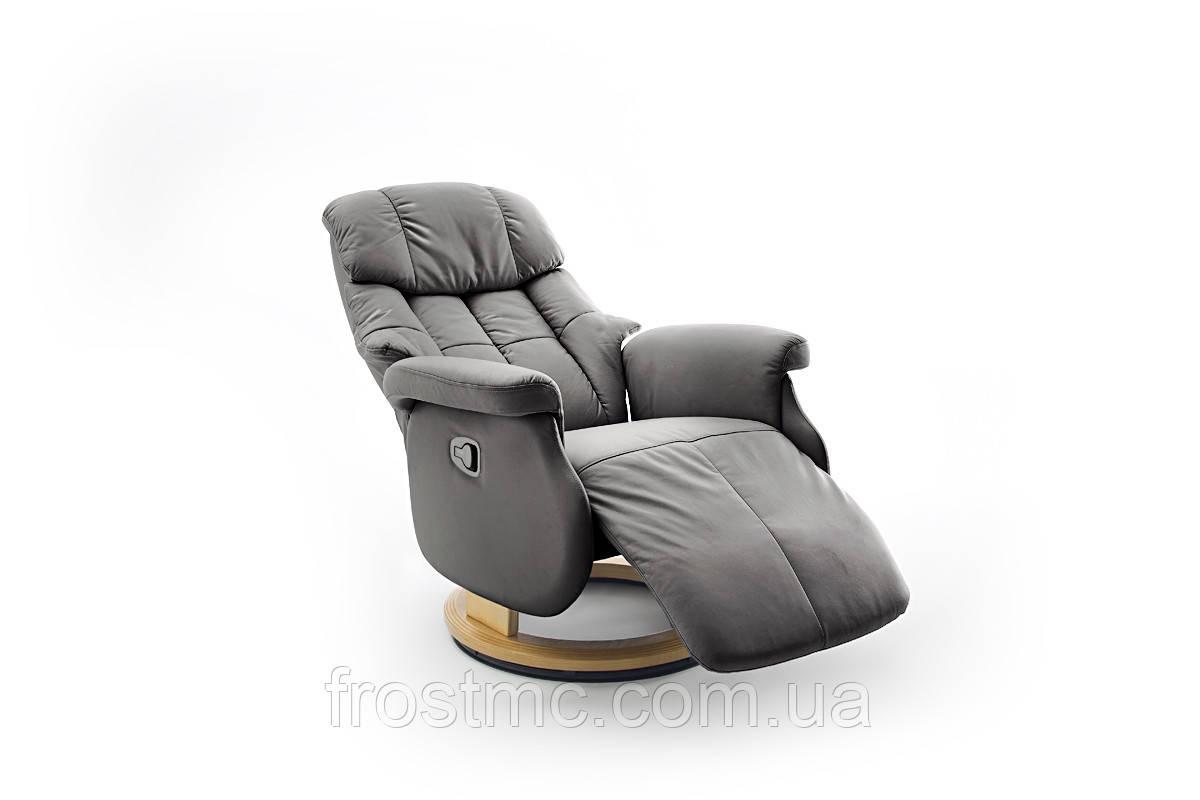 Комфортне крісло-реклайнер Relax Calgar L Chair Muddy стелаж Натуральний.