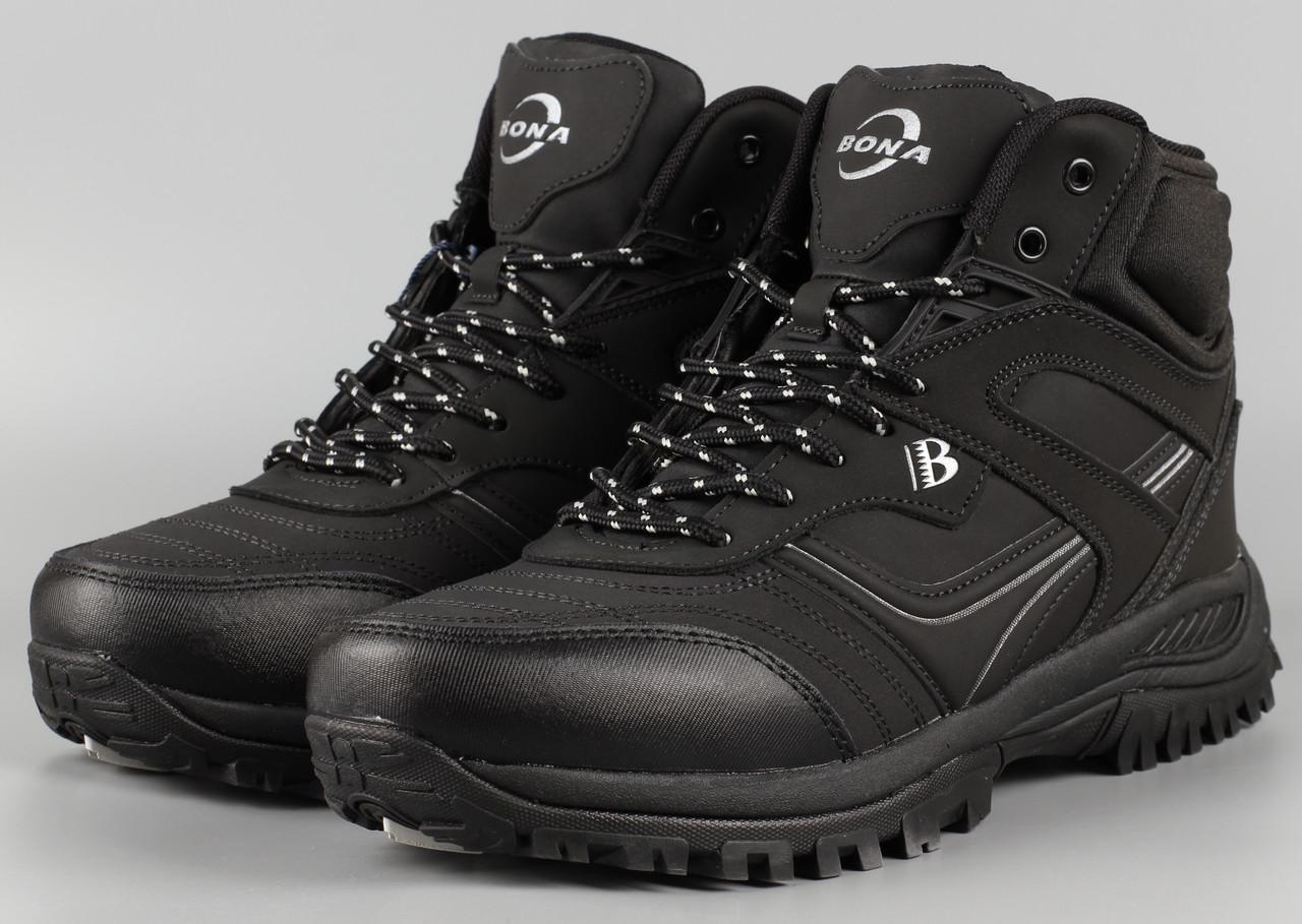 Черевики чоловічі чорні Bona 760D-6 Бона Розміри 42 43 46