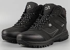 Ботинки мужские черные Bona 760D-8 Бона великаны баталы Размеры 47 48 49 50