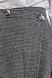 Женская ассиметричная юбка на запах (Серая), фото 4