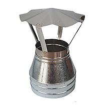 Конус для дымохода сэндвич d 230 мм; 0,5 мм; AISI 304; нержавейка/оцинковка - «Версия Люкс», фото 3