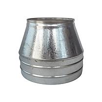 Конус для дымохода сэндвич d 230 мм; 0,5 мм; AISI 304; нержавейка/оцинковка - «Версия Люкс», фото 2