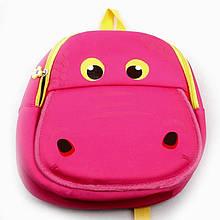Дитячий рюкзак в садок для дівчинки рожевий Бегемот